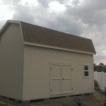 "12′ X 20′ BARN STYLE SHED 10′ WALLS ( CUSTOM 6"" BOXED OVERHANG AROUND )"
