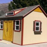 10′ x 14′ Ranch Style Shed 8′ Walls, 6′ Double Barn Sliding Doors