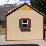 10′ x 14′ Ranch Style Shed 8′ Walls ( Shake Wood )