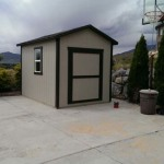 8′ X 10′ Ranch Style Shed 8′ Walls , 4/12 Roof Pitch