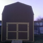 12′ x 16′ Barn Style Shed , 8′ Double Doors