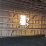 Inside 24′ x 20′ Garage ( Lined It Up With Shelving ! )