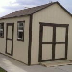 10′ x 14′ Ranch Style Shed 6/12 Roof Pitch