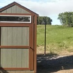 6′ x 6′ Ranch Style Shed With 8′ Walls, 6/12 Roof Pitch