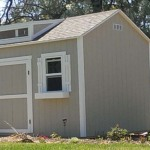 10′ x 12′ Ranch Style Shed With 8′ Walls With Shutters And Flower Boxes