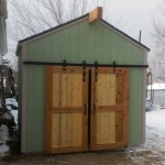 10′ x 14′ Ranch Style Shed With 6′ Double Sliding Barn Doors