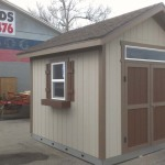 12′ x 12′ Ranch Style Shed With 1′ Overhang All Around On Galvanized Steel Joist System