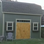 12′ x 16′ Barn Style Shed With 10′ Walls (Custom 6′ Double Pine Doors)