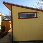 8′ x 12′ Lean To Style Shed With 4 1/2′ Transom Window (2′ Overhang In Front)