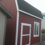 12′ x 16′ Barn Style Shed With 10′ Walls