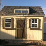 10′ x 14′ Ranch Style Shed With 8′ Walls