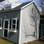10′ x 14′ Ranch Style Shed With 10′ Walls