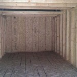 Inside Lofted Shed