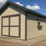 12′ x 12′ Shed with 1′ Overhang All Around