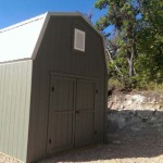 10′ x 16′ Barn Style Shed With Metal Roof