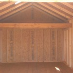 Inside 12′ x 12′ Ranch Shed With 8′ Walls