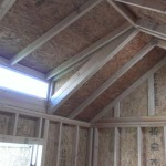 Inside Ranch Style Shed With Dormer Pop Out