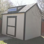 10′ x 12′ Ranch Style Shed With 8′ Walls