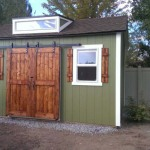 10′ x 16′ Ranch Style Shed With 6′ Double Sliding Barn Doors