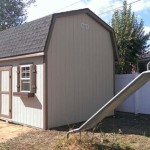 12′ x 16′ Barn Style Shed with 8′ Walls