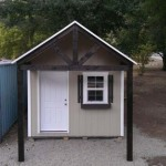 10′ x 8′ Ranch Style Shed With 4′ x 10′ Custom Roof Extension