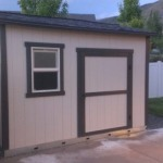 8′ x 10′ Ranch Style Shed Sitting On Galvanized Steel Joist System