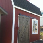 12′ x 16′ Barn Style Shed With 10′ Walls (4 1/2′ x 7′ Barn Sliding Door)