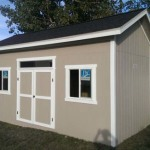 12′ x 16′ Ranch Style Shed With 10′ Walls With 1′ Overhang All Around