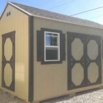8′ x 12′ Ranch Style Shed With 8′ Walls (Custom Molding On Doors)