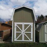BARN STYLE SHED WITH 8′ WALLS & 6′ DOUBLE DOORS