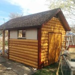 10′ X 12′ RANCH SHED 8′ WALLS LOG SIDING