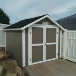 8′ X 10′ RANCH STYLE SHED WITH 6′ WALLS ( 6/12 PITCH)