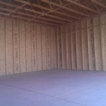 "INSIDE 24′ X 30′ GARAGE 10′ WALLS ( 16"" O.C. 2"" X 4"")"