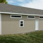 20′ X 40′ GARAGE 8′ WALLS ( 1′ X 6′ TRANSOM WINDOWS, 1′ OVERHANG ALL AROUND )
