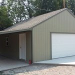 24′ X 30′ GARAGE 8′ WALLS ( CUSTOM EXTENSION OFF TO THE SIDE )