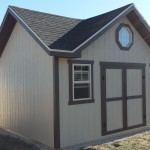 12′ X 16′ , 8′ WALL 3 PEAK RANCH STYLE SHED