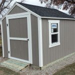 8′ X 8′ RANCH SHED WITH 6′ WALLS