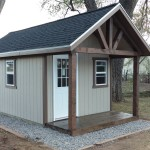 10′ X 16′ SHED 8′ WALLS W/ CUSTOM EXTENSION AND DECK