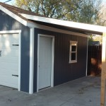 12′ X 16′ ONE CAR GARAGE W/ COVERED LEAN TO
