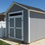 6′ DOUBLE DOOR ENTRY WITH TRANSOM WINDOW ABOVE 10′ X 12′ SHED