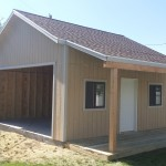 20′ X 20′ SHED/ GARAGE WITH 6′ EXTENSION & DECK