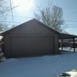 20′ X 24 GARAGE 8′ WALL W/ LEAN TO COVERED AREA