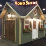 10′ X 14′ 3 PEAK SHED AT THE SOUTH TOWNE EXPO SHOW